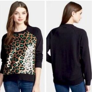 Michael Kors large sequined leopard print top